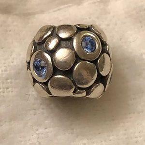 PANDORA Blue Bubbles Charm CZ 925 Retired